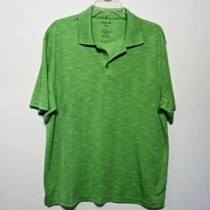 Haggar  Cool 18 Green Polo Shirt size Large